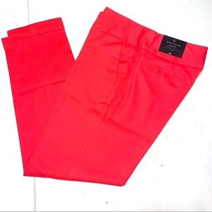 Worthington Slim Fit Cuffed Coral Pants SZ 8 NWT